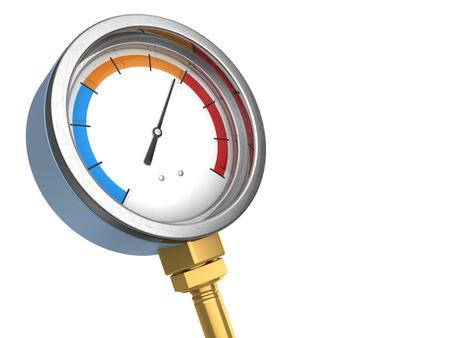 3d illustration of manometer or water temperature meter