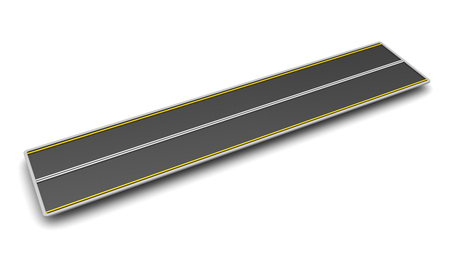 roadway: 3d illustration of road piece over white background