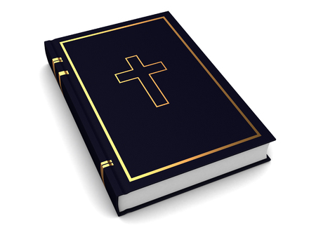 bible book: 3d illustration of bible book over white background