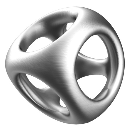 structure metal: 3d illustration of metal structure over white background