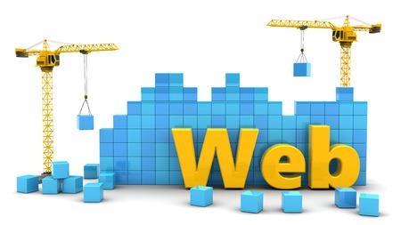 3D ilustracji koncepcji rozwoju sieci web