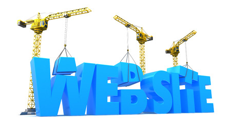 web site: 3d illustration of web site construction concept Stock Photo