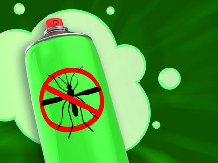 repellent: 3d illustration of anti mosquito spray repellent