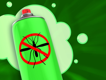 3d illustration of anti mosquito spray repellent