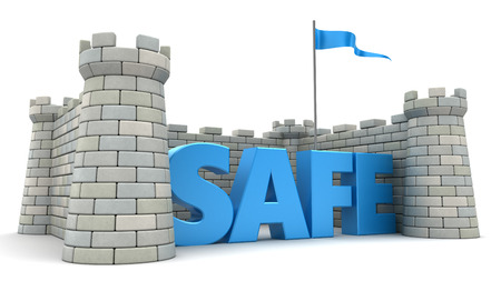 fortress: 3d illustration of fortress, safety concept