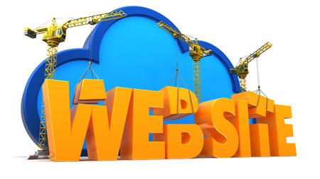 3d illustrazione del concetto di web design e processo di sviluppo