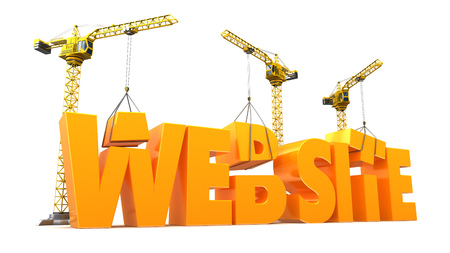 web site: 3d illustration of web site development concept