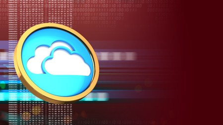 hexadecimal: abstract 3d red background with cloud symbol and