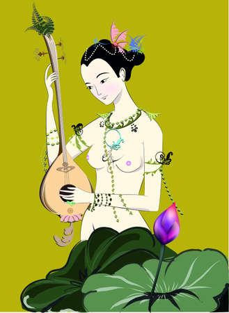 thai women: Thai Angel Illustration