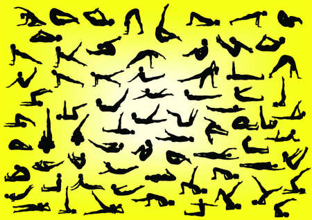 Body Silhouette Excercise Vector