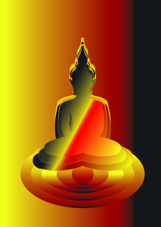 thai buddha: buddha Illustration