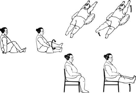sit back: back knee exercise old age