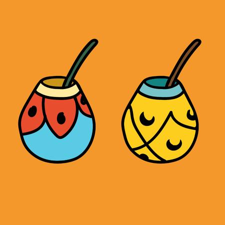 yerba mate: Dos de calabaza de mate