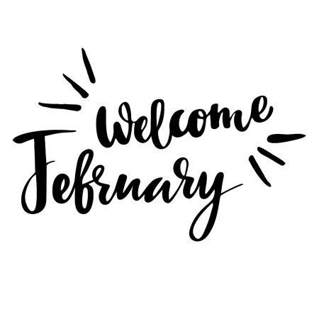 Tarjeta De Felicitación De Invierno Con La Frase Bienvenido
