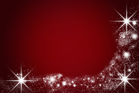 christmas x mas: christmas card with shiny lights and stars, red and black, empty text space