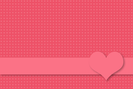 pink background with seamless heart texture for valentine and wedding greetings, banner with empty text space and heart symbol