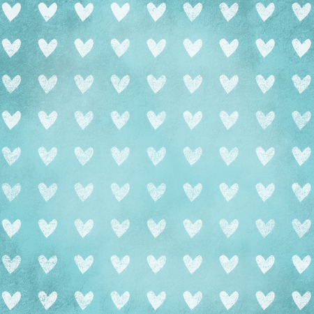 grunge background textured with heart shape, ancient wall design, blue, photo