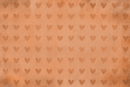 heart background with rocky texture, brown heart shapes, grunge design, photo