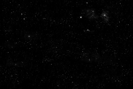 sky: starlit sky illustration with shiny stars an little planets on black background,