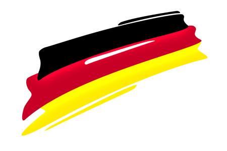 german national flag illustration on white background,