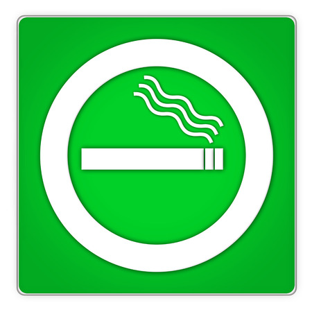 permitted: green squarish smoking permitted sign for smokers area