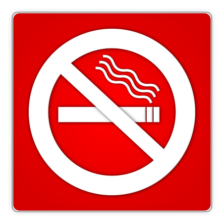 disallow: red squarish no smoking area sign with white symbols