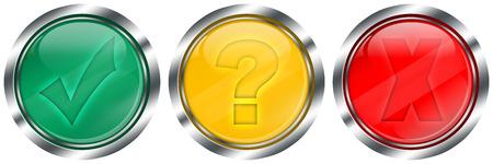 Ensemble de boutons web de feux de circulation brillant Banque d'images - 40015245