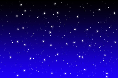starfield: simple designed starfield background on blue and black night sky Stock Photo
