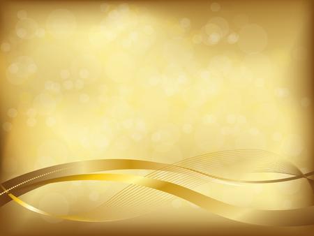 Lgant fond d'or avec flou et ondulées formes Banque d'images - 47200961