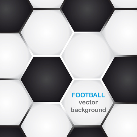 soccer: background with classic football texture and copy-space Illustration