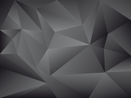 trendy black polygon background vector illustration