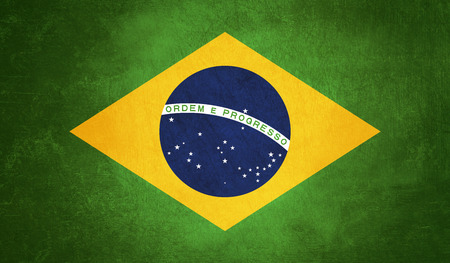 brazil flag background with grunge texture Stock Photo