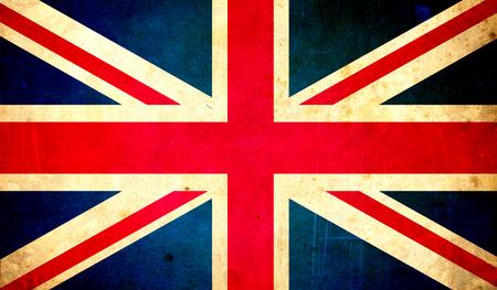 grunge union jack: great britain flag grunge texture