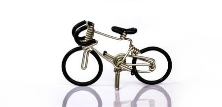 little bike made of bent wire photo