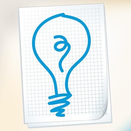 brainwash: Hand draw idea cartoon_on paper Note