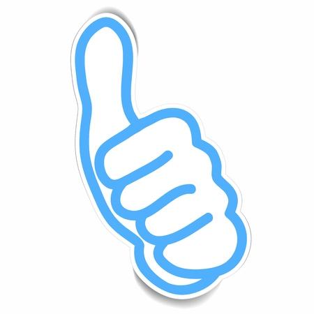 thumbs up business: vector de pegatinas de muy buen gesto de la mano Vectores