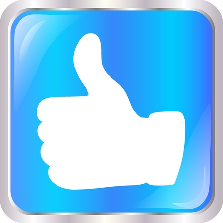 blue web button with best choice sign Stock Vector - 19019453