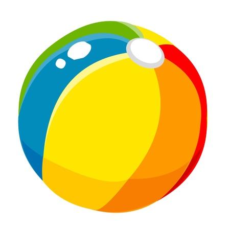 inflar: props pelota de playa linda de la historieta