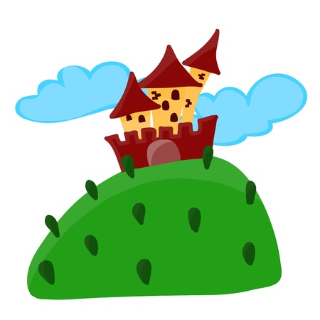 cartoon fairy: Cartoon fairy tale castle vector