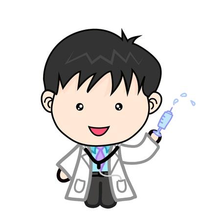 doctor cartoon: cute doctor cartoon Vector Illustration