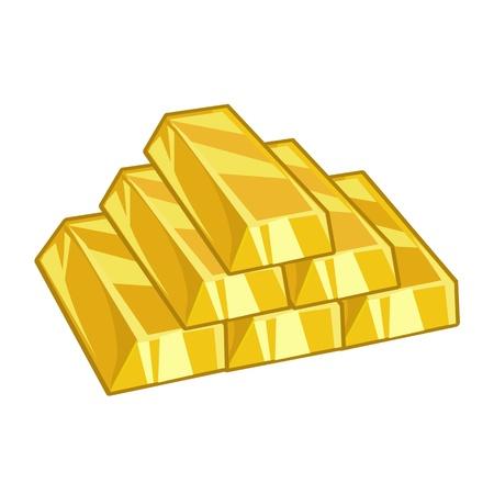 금 덩어리는 흰색 배경에 고립