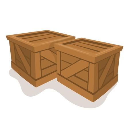 wood box Vector illustration