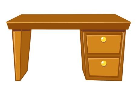 office desk isolated illustration on white background