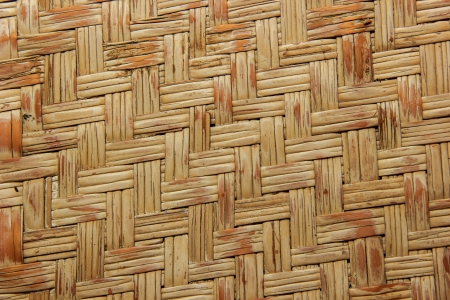 woven wood bamboo wall texture background photo