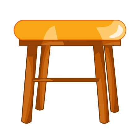 household goods: chair isolated illustration on white background