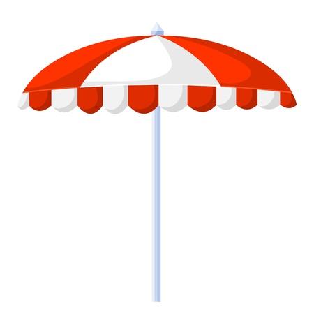 reclining: Beach umbrella isolated illustration on white background Illustration