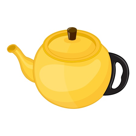 teakettle: teakettle isolated illustration on white background