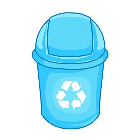 dispose: Trashcan Illustration