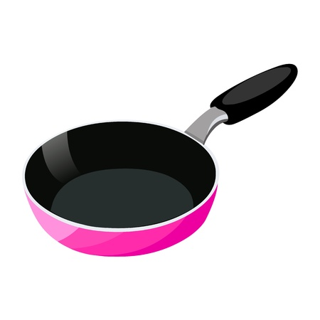 pan: Frying pan isolated illustration on white background