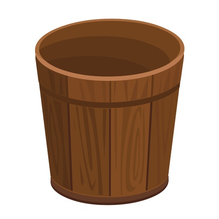 joinery: wooden barrel isolated illustration on white background Illustration